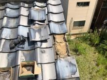 ケラバ部分の瓦のズレ補修