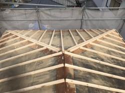 天理市 セメント瓦 垂木設置