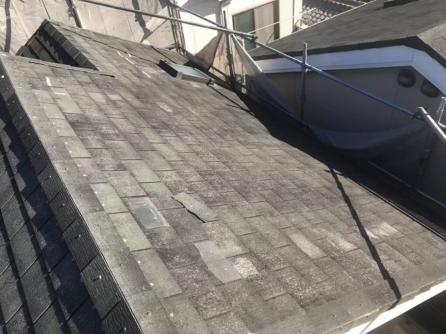 天理市のスレート屋根のお住まいへ無料点検