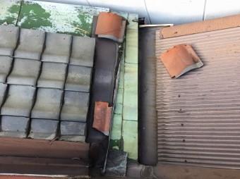 工事前の波板トタン屋根
