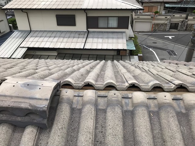 桜井市 モニエル瓦屋根 桟瓦設置