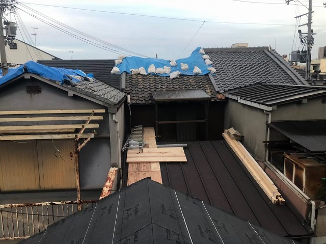 葺き替え工事前シート