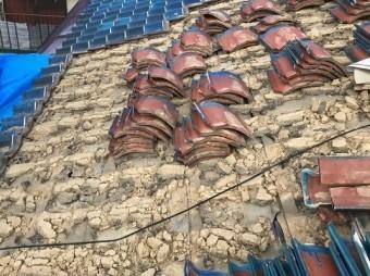 土葺き工法の和瓦屋根