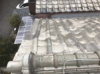 香芝市の釉薬瓦屋根の無料メンテナンス