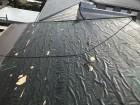 スレートを剥がした屋根