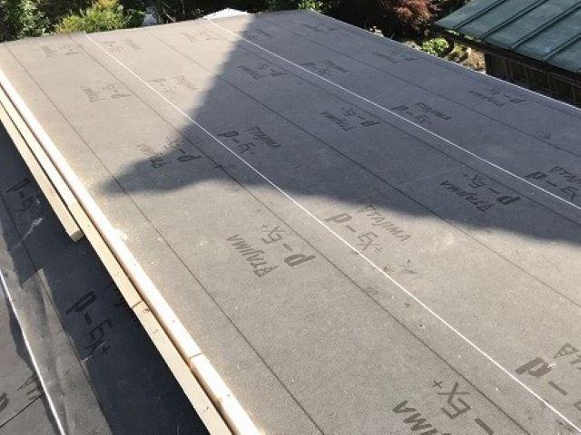 大和郡山市のトタン屋根の大棟に貫板