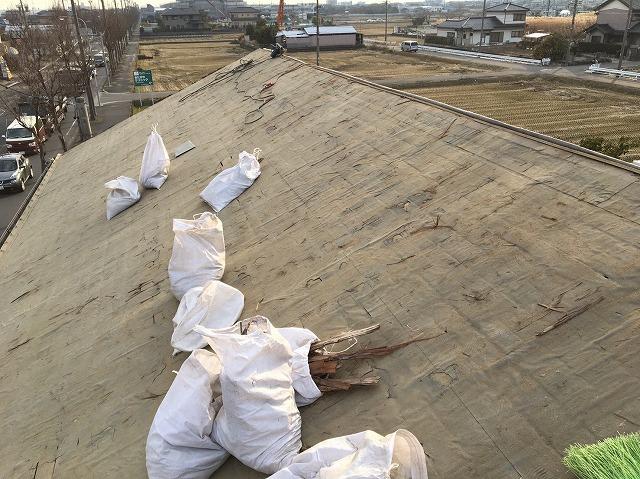 香芝市の瓦撤去