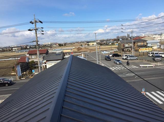 香芝市の立平葺きの屋根完成