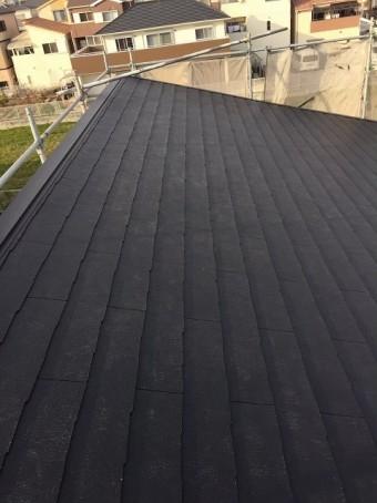大和郡山市の新築分譲住宅E号地の屋根完成