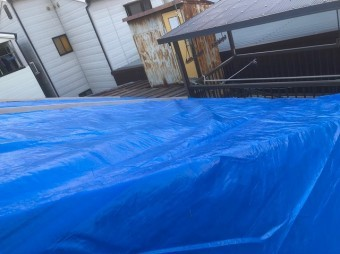 工事期間中の雨対策