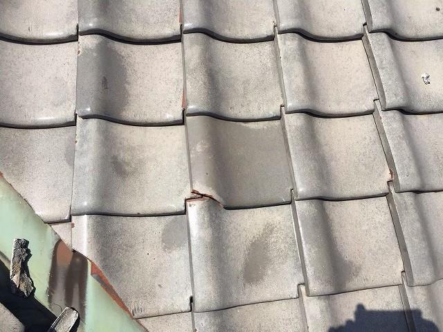 漆喰の劣化と棟瓦