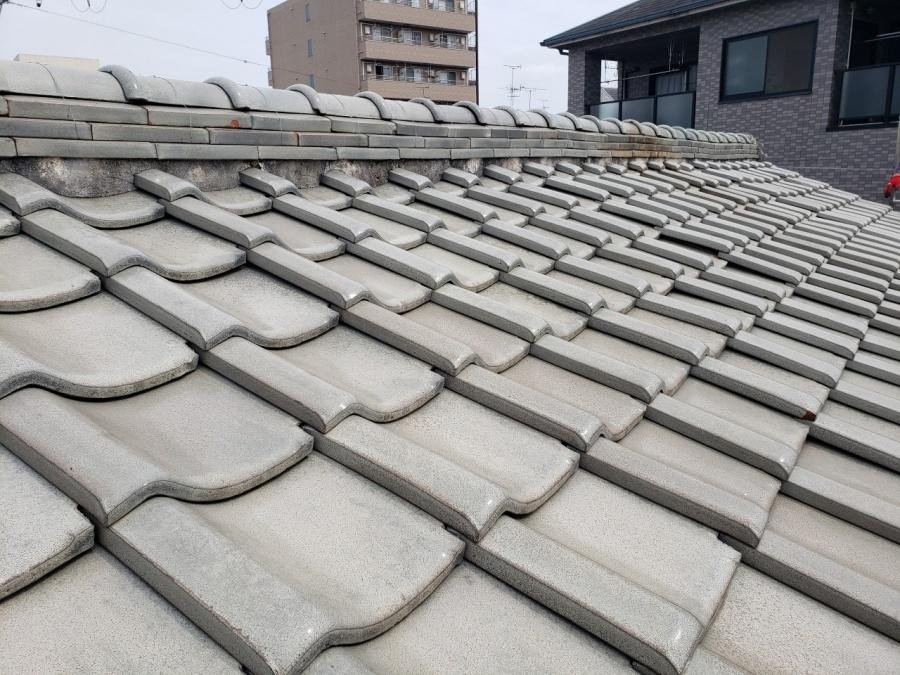 大阪市内の瓦屋根の施工前