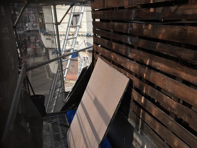 奈良市の店舗のサイディング壁を撤去