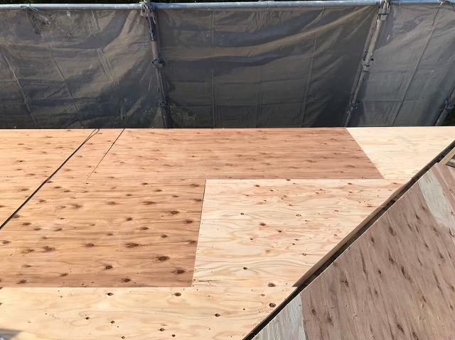 構造用合板で増し張り完成