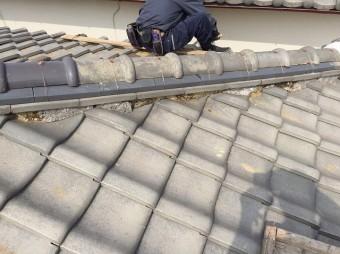 奈良市の棟瓦の瓦交換