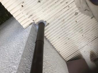生駒市で雨樋の全面交換工事