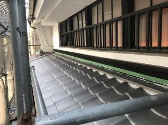 奈良市の下屋根ののし瓦設置