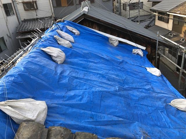 修理前屋根