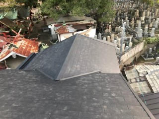 奈良市のカラーベスト屋根の完成