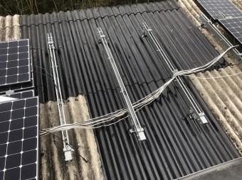 屋根張り替え後の塗装