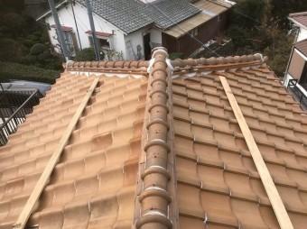 平群町で大屋根の棟を無料点検