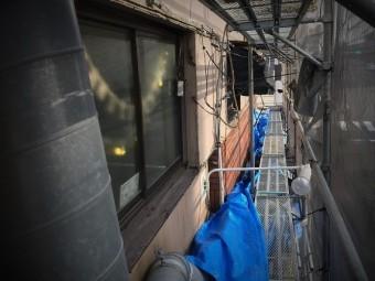 奈良市の店舗のサイディング壁