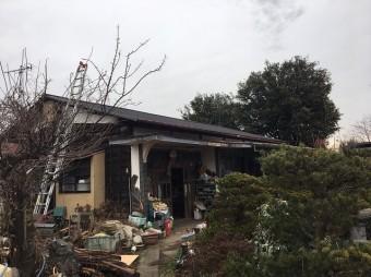立平葺き完成の屋根