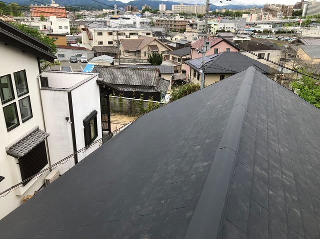 大屋根部分のガルテクト完了