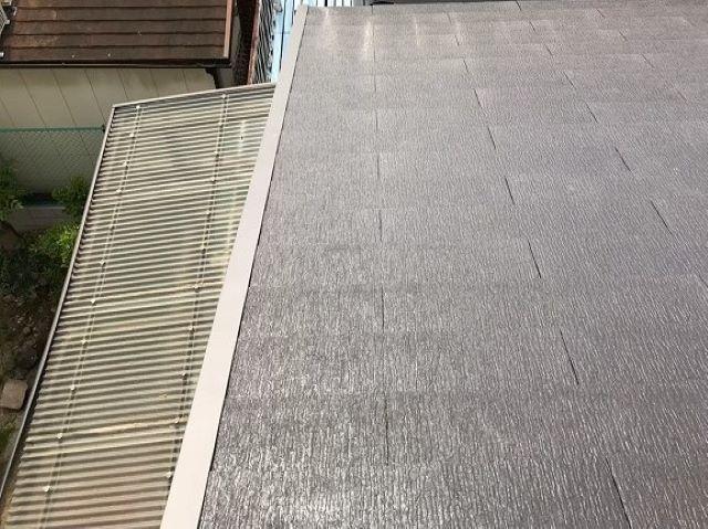 天理市のベランダ屋根をポリカ波板に交換