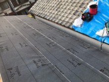 香芝市で下葺き材(防水紙)設置