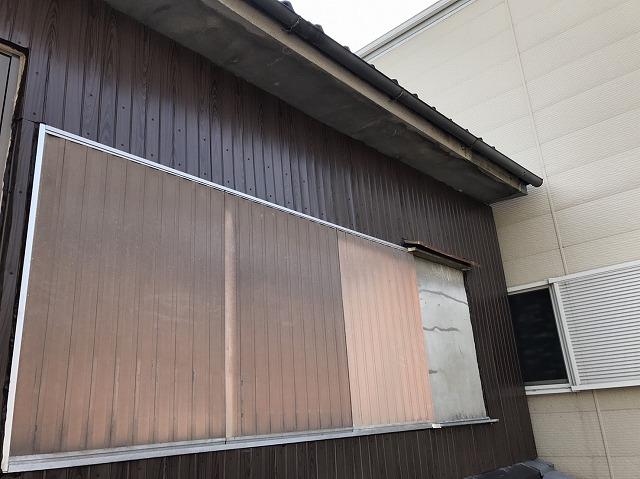 大和郡山市の外壁補修、リブ板設置