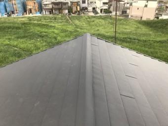 MFシルキーで屋根の葺き替え工事