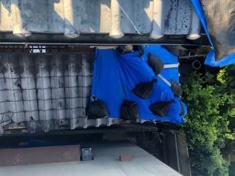奈良市の雨漏りの下屋根の応急処置