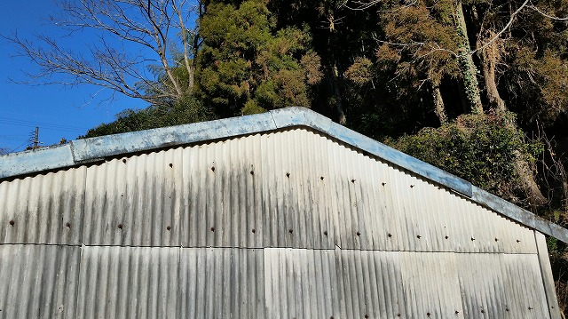 倉庫の外観部分