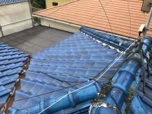 漆喰の詰め増しが以前されている瓦屋根