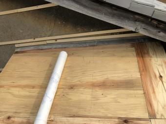 橿原市 トタンの下屋根 屋根材撤去