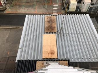 大和郡山市 工場屋根 部分補修