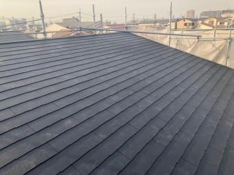 大和郡山市の新築分譲住宅A号地の屋根完成