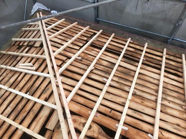 天理市 垂木設置 不陸調整