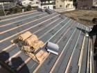 大和郡山市の屋根に瓦桟木を設置