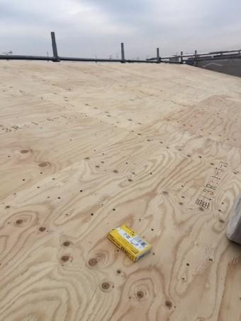 大和郡山市の新築分譲住宅E号地の屋根施工前