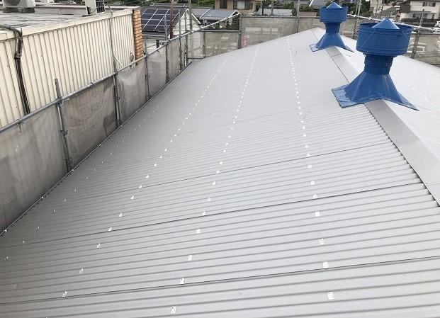 王寺町のリファインルーフ屋根が完成