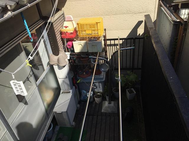 工事前の下屋根の真下の様子