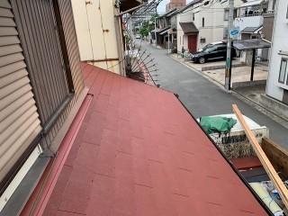 下屋根の葺き替え完了