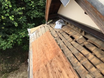 野地板設置の屋根