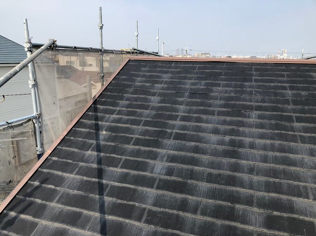 奈良市のカラーベスト屋根施工前