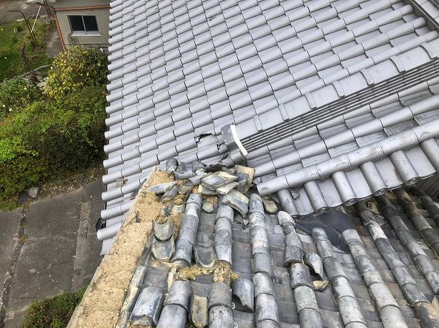 経年劣化で葺きなおしの屋根