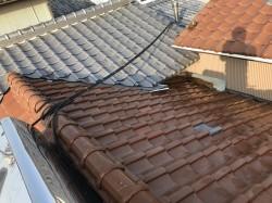 大和郡山市の複合タイプの屋根の施工前