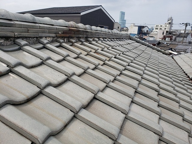大阪市内の瓦屋根の無料点検