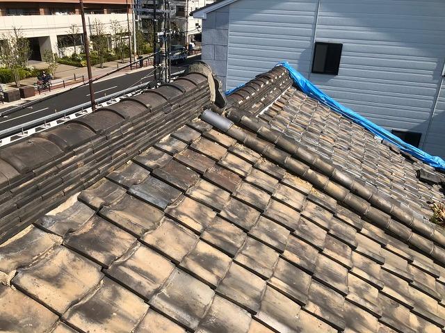 奈良市の瓦屋根の点検